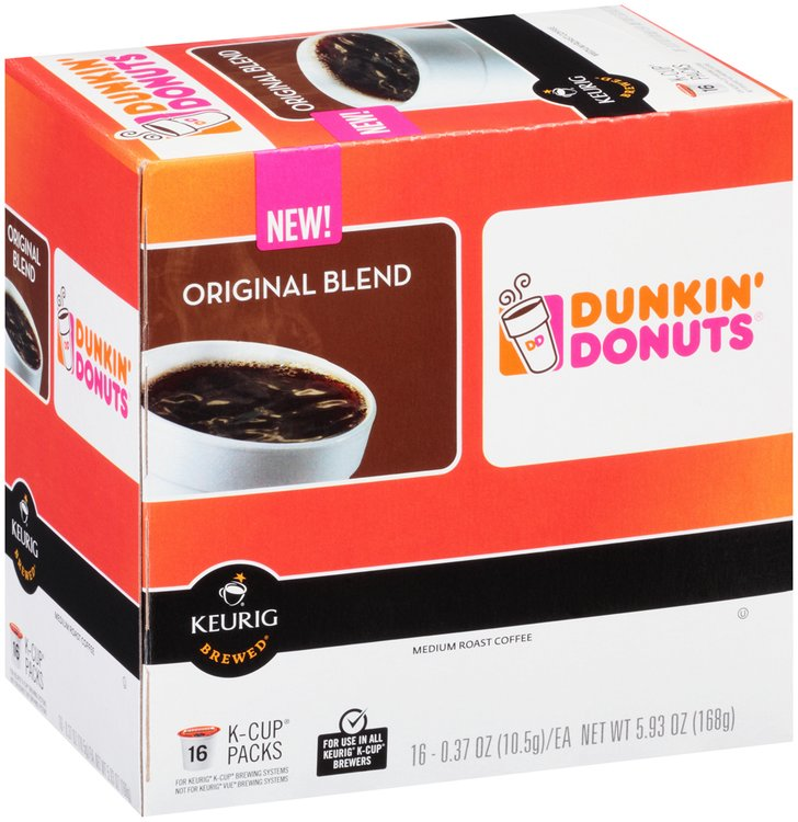 Dunkin' Donuts® Keurig Brewed® Original Blend Medium Roast Coffee 16 - 0.37 oz. K-Cups