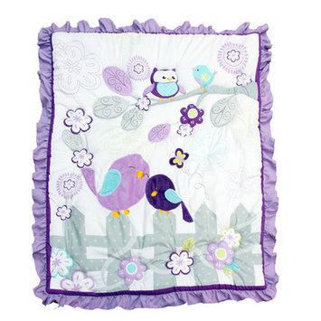 Baby's First Love Birds 3 Piece Crib Bedding Set