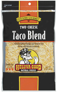 HELUVA GOOD Two-Cheese Taco Blend Country Gourmet Shredded Cheese