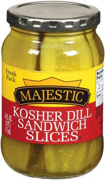 Majestic Kosher Dill Sandwich Slices Pickles 16 fl. oz.