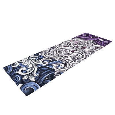 Kess Inhouse Celtic Floral I by Nick Atkinson Abstract Yoga Mat