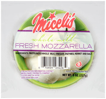 Miceli's® Whole Milk Fresh Mozzarella 8 oz. Pack