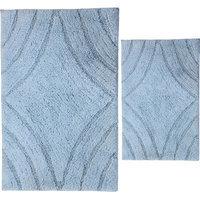 Textile Decor Castle 2 Piece 100% Cotton Diamond Spray Latex Bath Rug Set, 30 H X 20 W and 40 H X 24 W