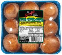 Giorgio Fresh Baby Bella Mushrooms 8 Oz Tray