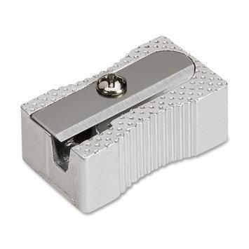 Integra Pocket Pencil Sharpener - 1 Hole(s) - Aluminum - Silver