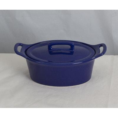 Omniware Stoneware Oval Casserole Size: Small, Color: Cobalt Blue