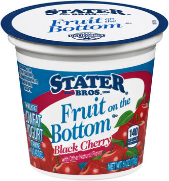 Stater Bros.® Fruit on the Bottom Low Fat Black Cherry Yogurt 6 oz. Cup