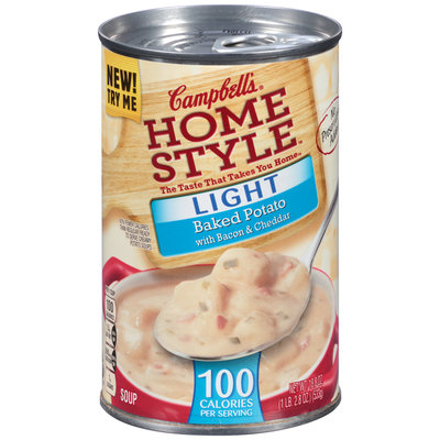 Campbell's® Home Style™ Light Baked Potato with Bacon & Cheddar Soup 18.8 oz. Can