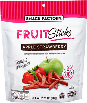 Snack Factory® Apple Strawberry Fruit Sticks 2.75 oz. Bag