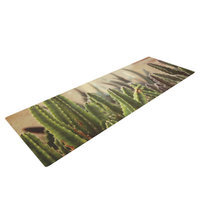 Kess Inhouse Green Grass Cactus by Jillian Audrey Yoga Mat