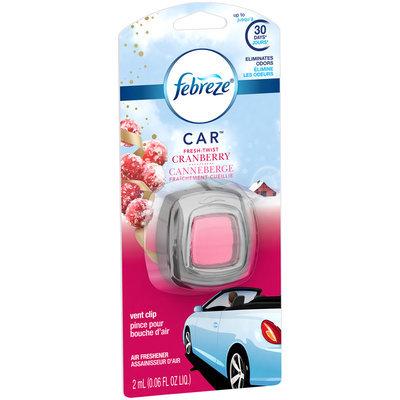 Febreze CAR Vent Clip Fresh Twist Cranberry Air Freshener (1 Count, 0.06 oz)