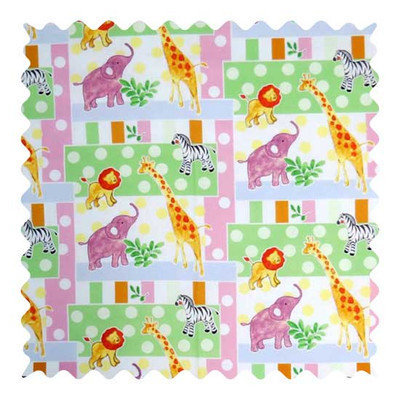 Stwd Jungle Animals and Dots Fabric by the Yard