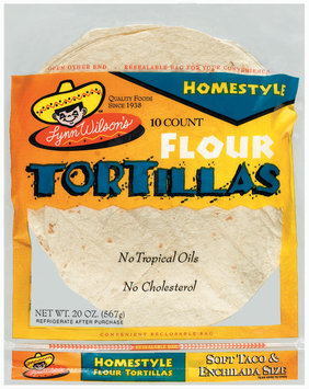 Lynn Wilson's Homestyle Soft Taco & Enchilada Size 10 Ct Flour Tortillas 20 Oz Bag