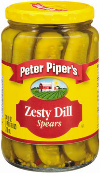 Peter Piper's Zesty Dill Spears Pickles 24 Oz Jar