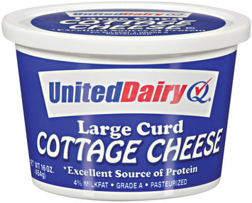 United Dairy® Large Curd Cottage Cheese 16 oz Tub