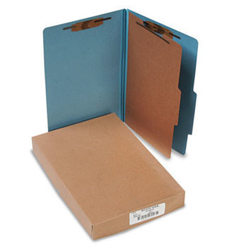 Acco Classification Folders Pressboard 25 Point, Legal, 4 Section