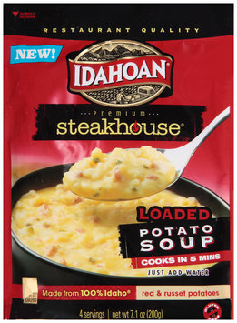 Idahoan® Premium Steakhouse® Loaded Potato Soup 7.1 oz. Pouch