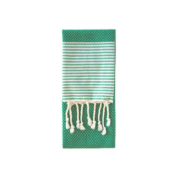 Nine Space Aegean Hand Towel, 31 x 15, Emerald, 1 ea
