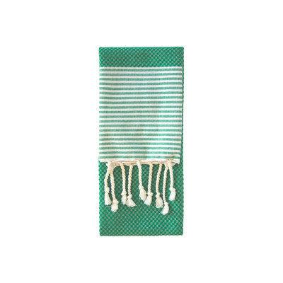 Nine Space Aegean Hand Towel, 31 x 15, Emerald, 1 ea