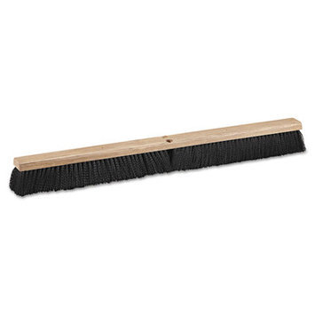 Boardwalk BWK 20636 36 in. Medium Polypropylene Floor Brushes - Black