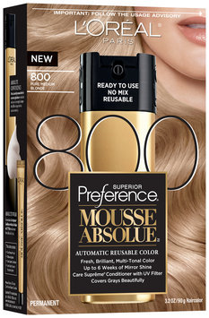 L'Oréal® Paris Superior Preference® Mousse Absolue™ 800 Pure Medium Blonde Haircolor 3.2 oz. Box