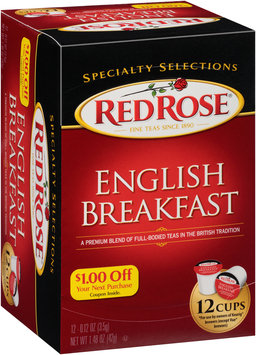 Red Rose® Specialty Selections English Breakfast Tea Single Serve Cups 12 ct Box