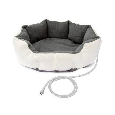 Aleko Warm Soft Heated Pet Bed Size: Small (19