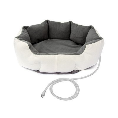 Aleko Warm Soft Heated Pet Bed Size: Small (19