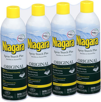 Niagara® Original Spray Starch Plus 4-20 oz. Aerosol Cans