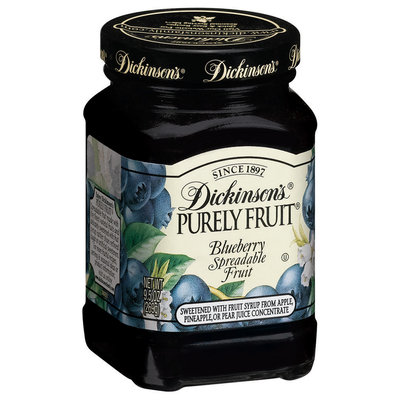 Dickinson's Purely Blueberry Spreadable Fruit 9.5 Oz Glass Bottle
