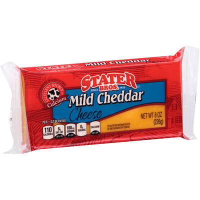 Stater Bros.® Mild Cheddar Cheese 8 oz. Brick