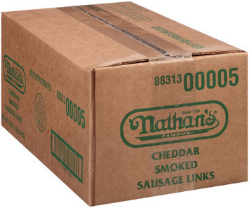 Nathan's Famous® Cheddar Smoked Sausage 6 ct Package