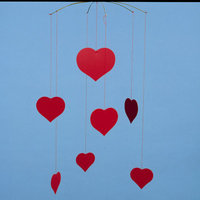 Flensted Mobiles Themed Happy Hearts (Valentine) Mobile