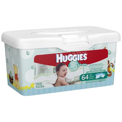 Huggies® One & Done Refreshing Baby Wipes 64 ct Tub
