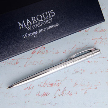 Jds Personalized Gifts Personalized Gift Waterford Arcadia Ballpoint Pen Color: Chrome