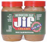 Jif Creamy Reduced Fat 40 Oz Twin Pk Peanut Butter 5 Lb Plastic Jar