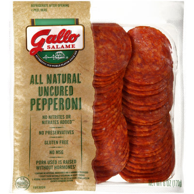Gallo Salame® All Natural Uncured Pepperoni 6 oz. Packet