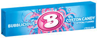 Bubblicious 5 Piece Packs Cotton Candy Bubble Gum