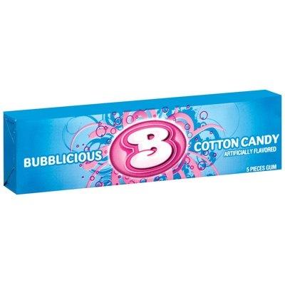 Bubblicious 5 Piece Packs Cotton Candy Bubble Gum