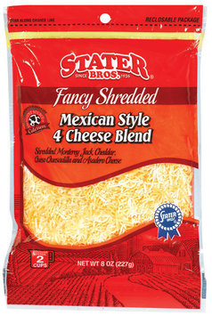 Stater Bros. Mexican Style  Fancy Shredded Cheese 8 Oz Peg