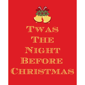 Secretly Designed Twas the Night before Christmas Art Print