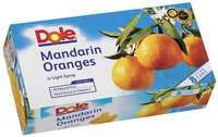 Dole Canned Fruit Whole Segments In Light Syrup 11 Oz Mandarin Oranges 8 Pk Cans