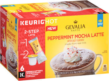 Gevalia Peppermint Mocha Latte Espresso K-Cup® Pods & Latte Froth Packets 6 ct Box