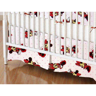 Stwd Minnie Mouse Crib Skirt