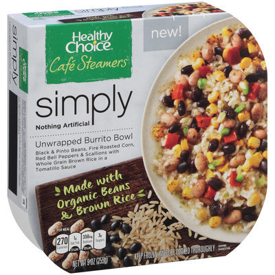 Healthy Choice® Cafe Steamers® Simply Unwrapped Burrito Bowl 9 oz. Box