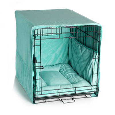 Pet Dreams Plush Cratewear Seafoam Blue, Large