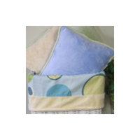 Brandee Danielle Minky Bubbles Cotton Throw Pillow Color: Blue