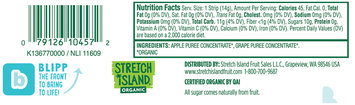 Stretch Island Grape Organic Fruit Strip 0.5 oz. Pack