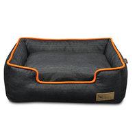 PLAY Denim Lounge Orange Dog Bed X-Large