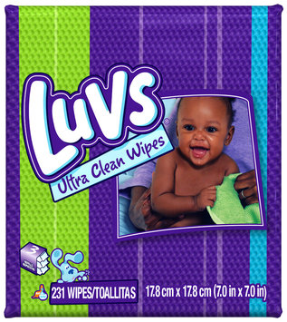 Luvs Ultra Clean Baby Wipes 231 ct Box